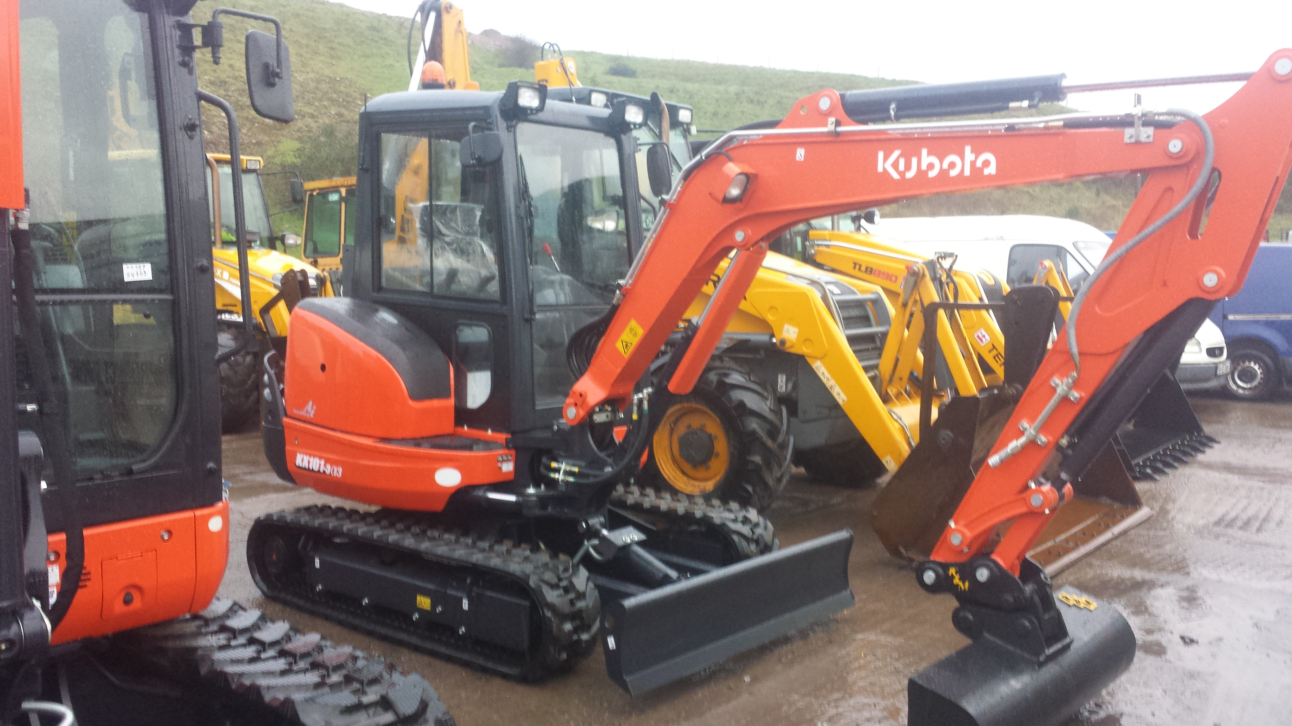 Images of diggers and mini diggers for hire